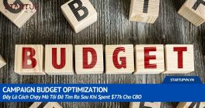 Campaign Budget Optimization: Đây Là Cách Chạy Mà Tôi Đã Tìm Ra Sau Khi Spent $77k Cho CBO 6