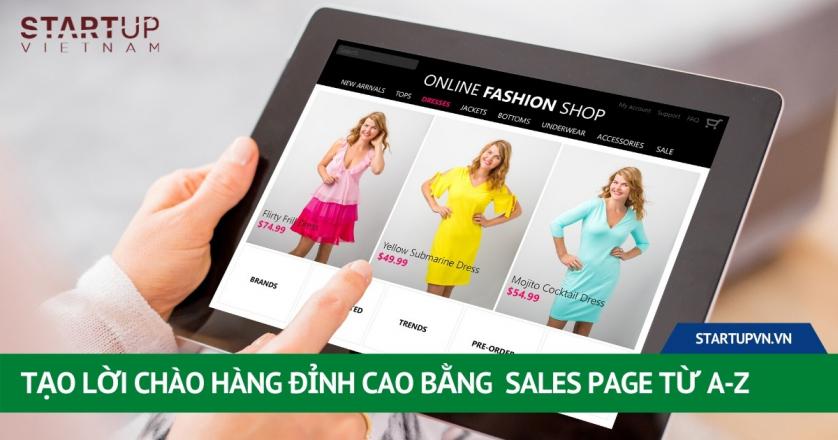 Tạo Lời Chào Hàng Đỉnh Cao Bằng Sales Page Từ A-Z 1